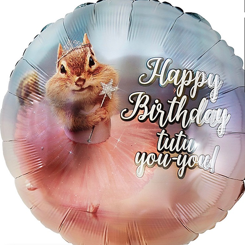 "18"" Squirrel Happy Birthday (195)"