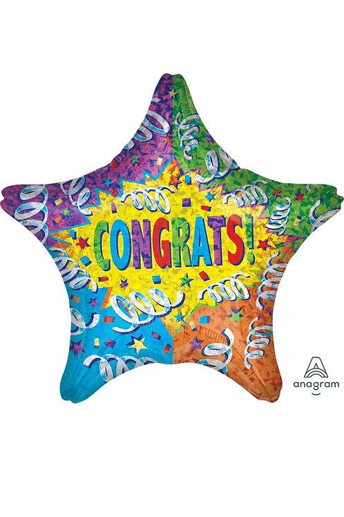 """Congrats Star 30"""" Balloon 054"""