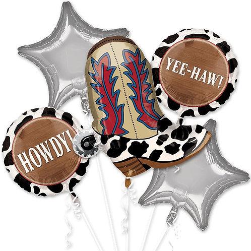 Cowboy Yee-Haw Balloon Bouquet