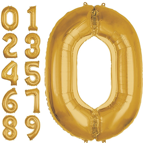 """50"""" Gold Number Balloon"""