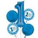 1st Birthday Balloon Bouquet (Blue)