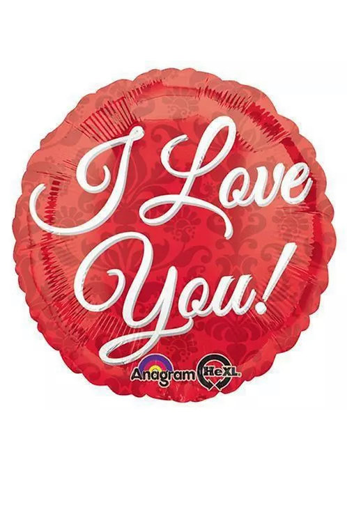 "I Love You Red 18"" Mylar"