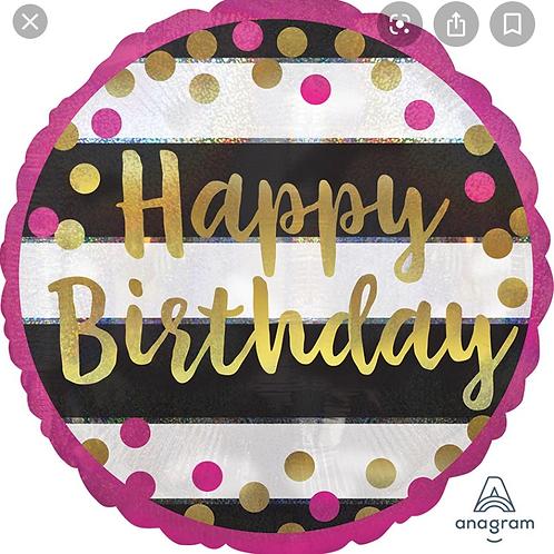 "18"" Happy Birthday Balloon 258"