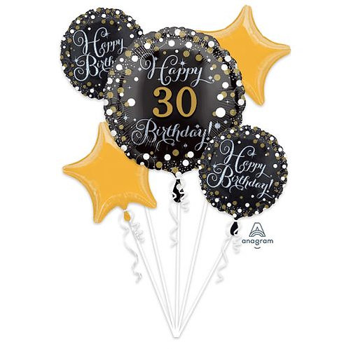 Personalize it! Sparkling Happy Birthday Bouquet 227