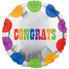 "18"" Polka Dots Congrats Mylar Balloon 026"