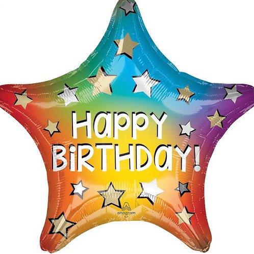 "18"" Happy Birthday Star Balloon (288)"