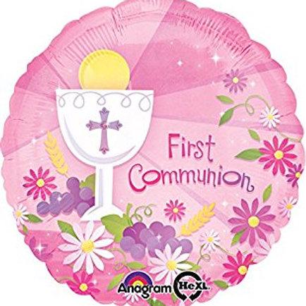 """18"""" pink communion balloon"""
