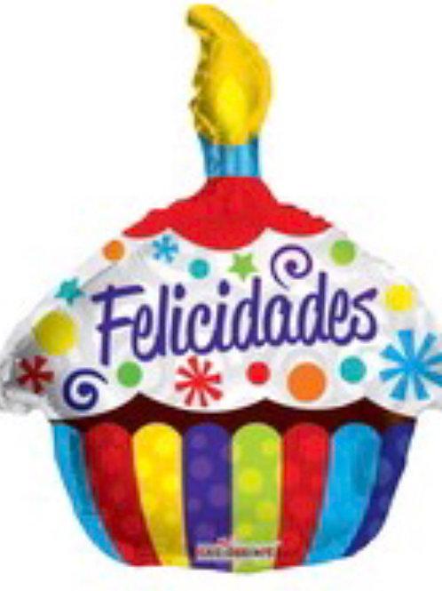 Felicidades Cupcake Balloon 037