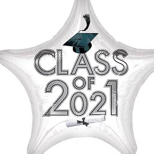White Class of 2021 Star