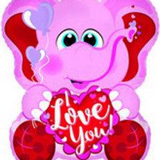 Elephant Valentines Balloon