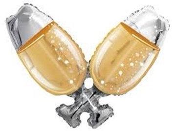 "Champagne Glasses 36"" Mylar"