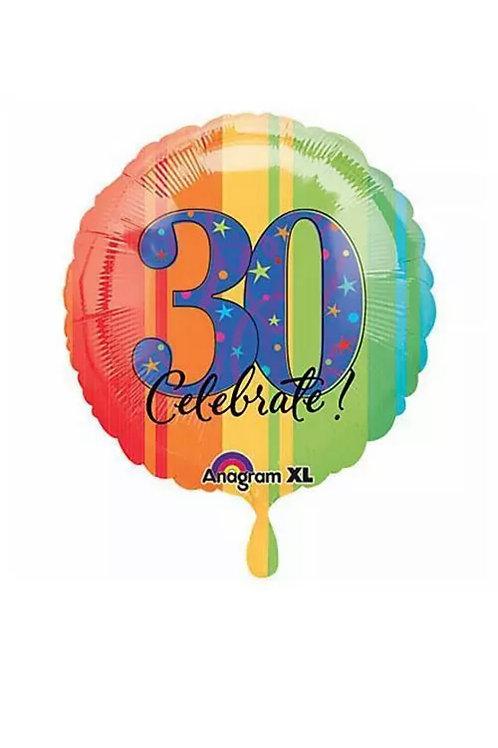 "30 Celebrate! 18"" Mylar 189"