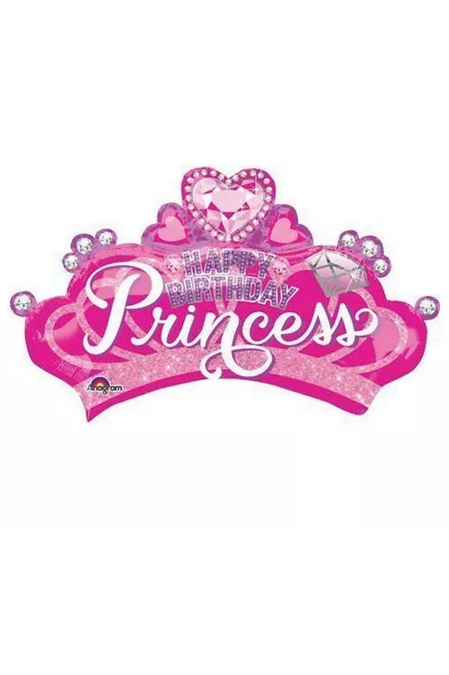 "Happy Birthday Princess Crown 32""Mylar"