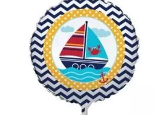 "18"" Ahoy Nautical Mylar Balloon"