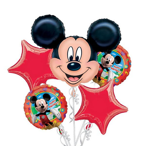 Mickey Mouse Balloon Bouquet Red