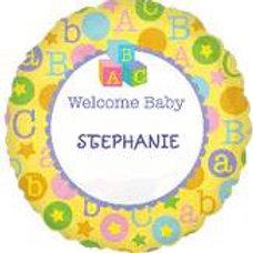 Welcome Baby Writable Balloon