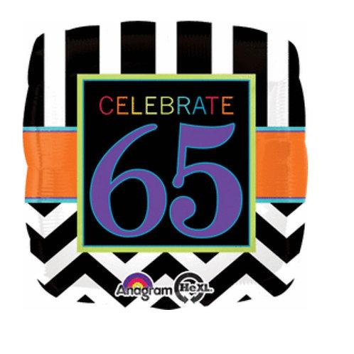 "Celebrate 65  17"" Mylar (338)"