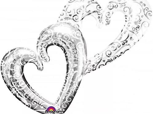 Interlocking Hearts Balloon