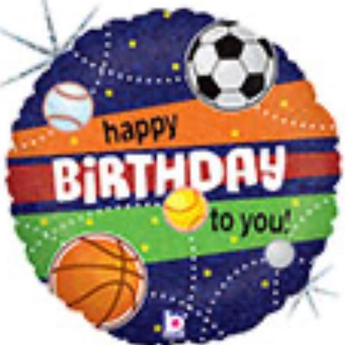 """Sports Birthday 18"""" Mylar"""
