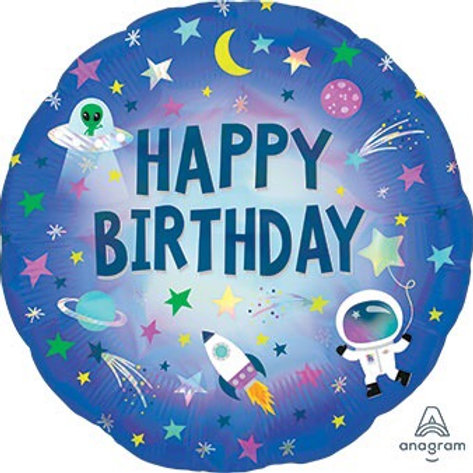 """Happy Birthday Outer Space18"""" Mylar"""