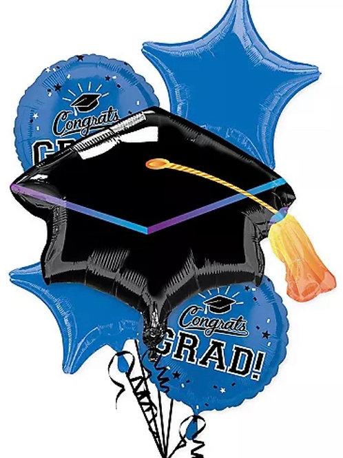 Blue Congrats Grad Balloon Bouquet