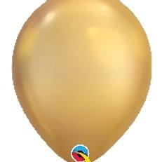 """12""""Chrome Gold Latex Balloon"""