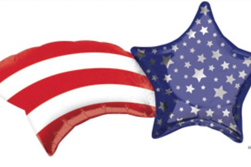 Patriotic Shooting Star