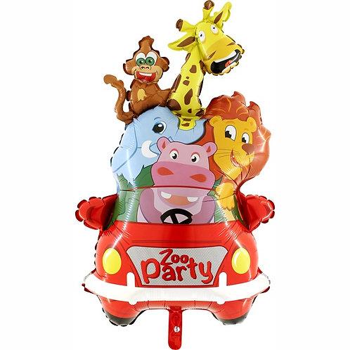 "Animals Car Zoo Party 32"" Mylar"
