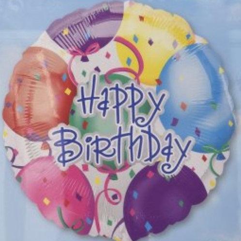 """Happy Birthday Bash 18"""" Mylar"""