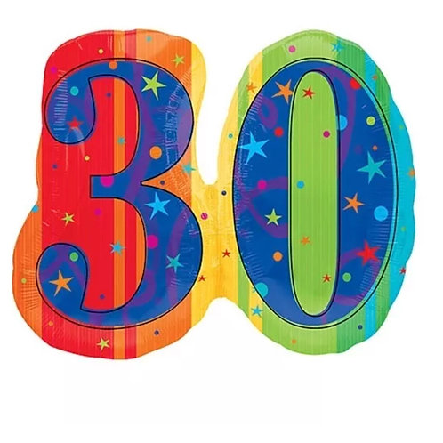 30th Mylar Balloon 106