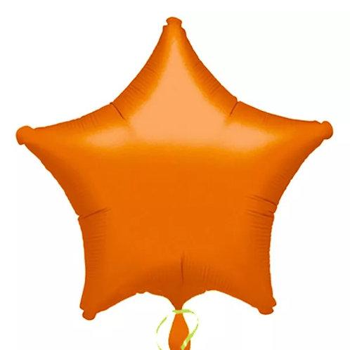 "18"" Orange Star Balloon"