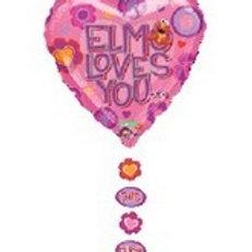 Elmos Loves You Mylar Balloon