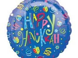 """18"""" Happy Hanukkah Balloon"""