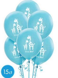 15ct It's a Boy Latex Balloons
