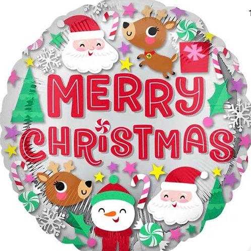"Merry Christmas Mylar 18"" Mylar"