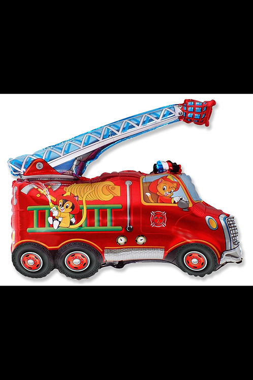 "Fire Truck Cats 31"" Mylar"