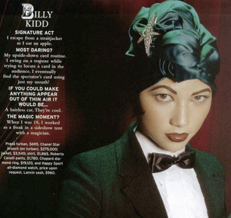 USA Departures Magazine features magician Billy Kidd.