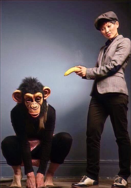 Billy Kidd and Charlie the Psychic Monkey in Bridging the Gap.