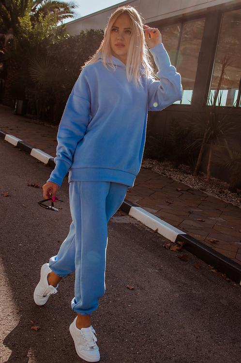 Костюм спортивный женский с капюшоном из флиса