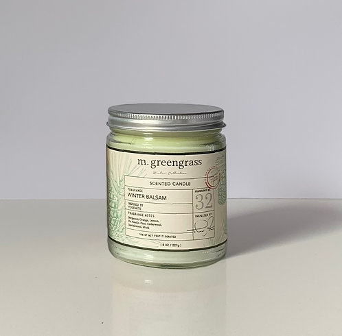 Winter Balsam 8 oz Glass Candle (single)