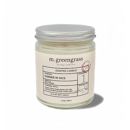 summer in nice 8 oz candle