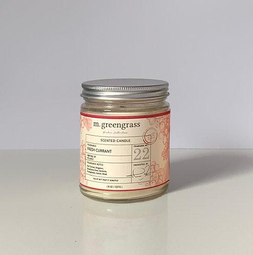 Fresh Currant 8 oz Glass Candle