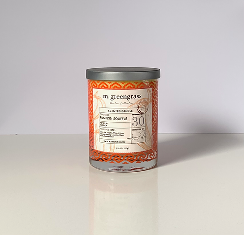 Pumpkin Souffle 10 oz Glass Candle