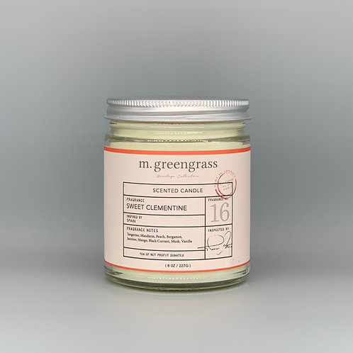 sweet clementine 8 oz candle