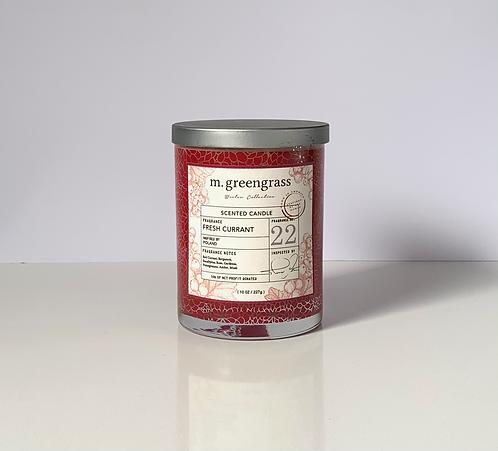 Fresh Currant 10 oz Glass Candle