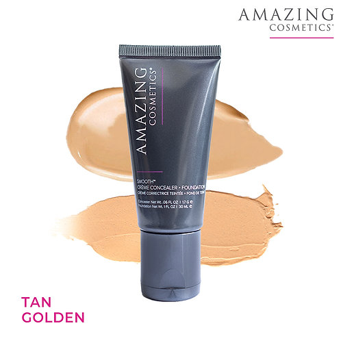 AC Smooth Crème Concealer Foundation Duo|Tan Golden