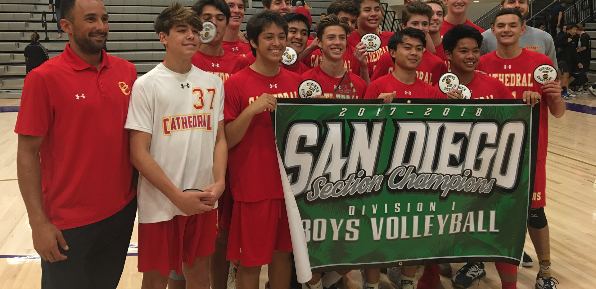 CCHS Boys' Volleyball CIF Champs  2018.J