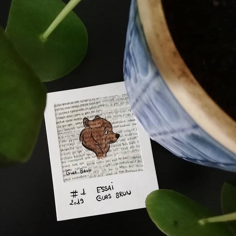L'ours Celtic - Esai dessin