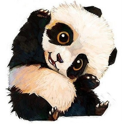Mignon petit panda