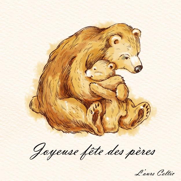 Bonne fête des pères - L'ours Celtic